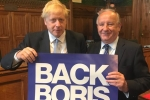 Laurence with Boris holding a Back Boris sign